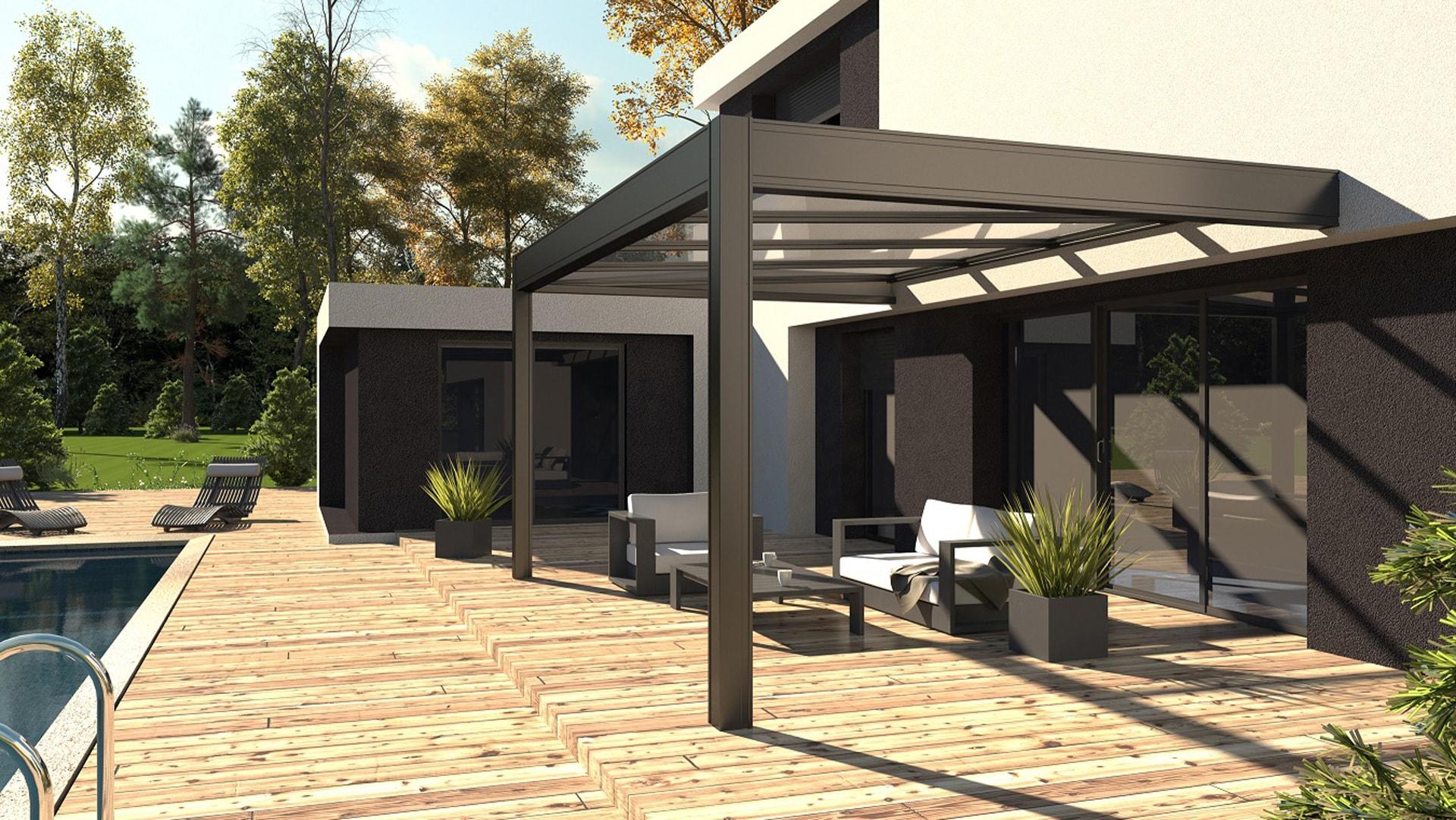 pergola bioclimatique solembra. Black Bedroom Furniture Sets. Home Design Ideas